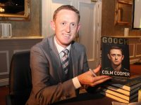 Colm Cooper at the launch of his autobiography in the Gleneagle Hotel on Thursday night. Photo by Dermot Crean