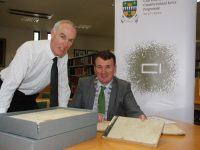 Pictured at the launch of the Cultural Archive Award at Kerry County Library in Tralee on Monday were County Librarian Tommy O'Connor and the Cathaoirleach of Kerry County Council, Cllr John Sheahan