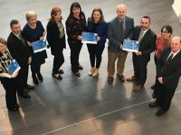 Launching the  were, from left; Mary Stritch IT Tralee Jerry Gallagher IT Tralee Jane Leonard CIT Dr. Siobhan Bradley, Regional Skills Manager, South-West Aoife O Reilly South Kerry Skillnet Katie Kerin South West Gnó Skillnet Daithi Fallon CIT Don Crowley CIT Mary Rose Stafford IT Tralee Ray O Connor Desmond IT Tralee