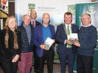 Members of Camp Community Council with Mayor of Kerry John Sheahan and Director of Services At Kerry County Council, John Breen (back) at the launch of the Kerry 2016 Centenary Programme Book & DVD at The Rose Hotel on Thursday night. Photo by Dermot Crean