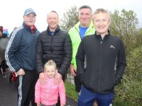 Tony Griffin, Danny and Mia Leane, Simon McCarthy and Oliver Molloy at the Kerins O'Rahillys GAA Club Family Walk By The Canal on Sunday morning. Photo by Dermot Crean