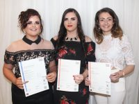 Elena Buckley, Megan O'Brien and Grace Stack at the Kerry ETB Awards at the Rose Hotel on Thursday night. Photo by Lisa O'Mahony.