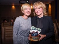 Kerry Film Festival presented the Maureen O'Hara award to 2017 recipient Director and Editor Emer Reynolds at a ceremony in Dublin October 4.  Local Kerry ceramic artist Amy Smith was proud to create the award which recipient Director Emer Reynolds holds here.