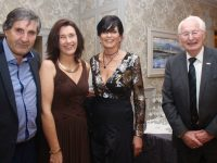 Pat Joe McQuinn, Anne Hoare, Louise Laide and Denis O'Regan at the Austin Stacks GAA Club Centenary Gala Dinner at The Rose Hotel on Saturday night. Photo by Dermot Crean