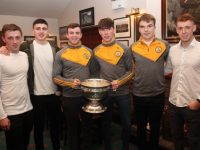Kerry minor medal winners Sean Ryan (2014), Ferdia O'Brien (2015, 2016), Ciaran O'Reilly, Michael Slattery and Dylan Casey (2017) and Jack Morgan (2014, 2015) at the Austin Stacks All-Ireland Minor Winners Celebration Night in the clubhouse on Friday night. Photo by Dermot Crean
