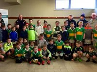 John Mitchels U10s who were nominated by Mark McEvoy, winner of the McCarthy Insurance Group competition to win a training session with Kerry Manager Eamonn Fitzmaurice.