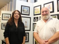 Margaret Kennedy and Graham Davis at the opening of the Ardfert Camera Club's Annual Photographic Exhibition in Tralee Library on Tuesday. Photo by Dermot Crean