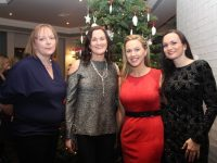 Elesia O'Connor, Susan O'Mahony, Elaine McElligott, Louise McMahon at the Aspen Grove Thanksgiving Dinner on Friday in The Ashe Hotel. Photo by Dermot Crean