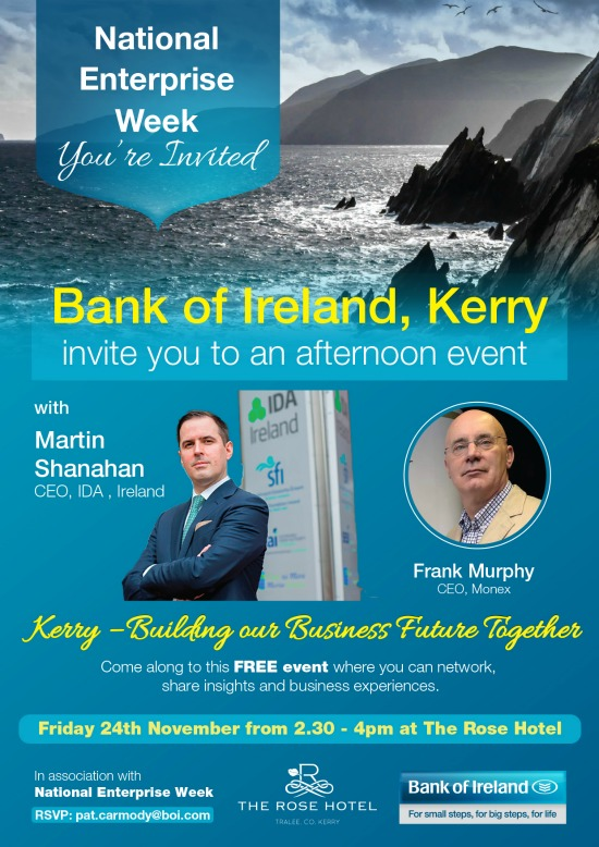 IDA Boss To Speak At Bank Of Ireland Event For SMEs In Tralee