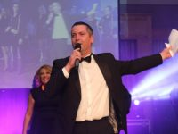 MC for the night, Brian Hurley, at the Ballyheigue GAA 'Strictly Come Dancing' in the Ballyroe Heights Hotel on Saturday night. Photo by Dermot Crean