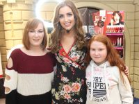 Tara O'Farrell (centre) with Kerry and Eva Nolan at her Make-Up Masterclass at CH Chemists on Saturday afternoon. Photo by Dermot Crean