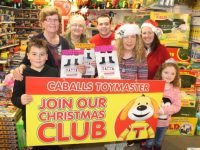 Launching the St Vincent de Paul Caballs Toymaster Christmas Toy Appeal were, in front Max Maurice Fitzgerald, Ann Laide of Caballs, Marian Moore, Paddy Kevane, Treasa Walsh, Miriam Deregibus and Caragh Kelliher. Photo by Dermot Crean