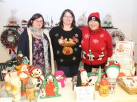 Mary Shanahan, Laura Kelliher and Linda Hillier at the Christmas Market on Courthouse Lane (opposite Polymath Bookshop) on Saturday. Photo by Dermot Crean