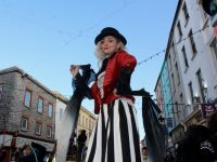 A performer in the parade. Photo by Dermot Crean