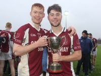 Brandon Barrett and Gary Carey with the cup.  Photo by Dermot Crean