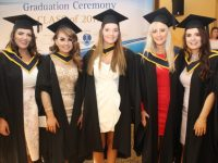 Shaun Harrington, Natalie Daly, Tara O'Shea, Rachel McElligott and Elaine Doody (General Nursing) at the IT Tralee Conferring Ceremony on Friday morning. Photo by Dermot Crean