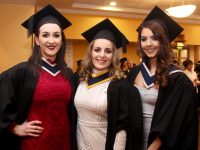 Lira Hoxha (Information Systems Management), LIranda Krasniqi (Computing with Software Development) and Tina Kastrati (Bachelor of Business Hons Degree) at the IT Tralee Conferring Ceremony on Friday afternoon. Photo by Dermot Crean