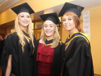 Amy O'Connell, Mary Collins and Kate Mannix, Health and Leisure, at the IT Tralee Conferring Ceremony in the Brandon Hotel Conference Centre on Thursday afternoon. Photo by Dermot Crean