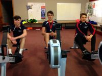 Daithi O'Regan, Nicolas Larkin and Bela Winde of Tralee Rowing Club who all took part in the