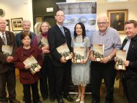 At the launch of the Kerry Archaeological and Historical Society's Kerry Magazine 2018 in Tralee Library on Tuesday evening were, from left; Donal O'Sullivan, Kathleen Browne, Dick Maguire, Elizabeth O'Donoghue Ross, John Breen of Kerry County Council, Marie O'Sullivan, Dan Graham and Tony Bergin. Photo by Dermot Crean
