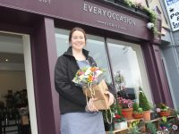 Leona Fitzmaurice of Every Occasion Florist looking forward to distributing free bouquets around Tralee next Monday. Photo by Dermot Crean