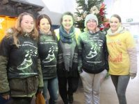 Susan McMahon, Triona O'Brien, Nora Delee, Mary Walsh and Emma O'Sullivan after taking part in the Live ITT Colour  Run on Thursday. Photo by Dermot Crean