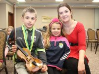 William, Caoimhe and Caroline Somers at the Tralee Parnells GAA Club awards night in The Rose Hotel on Friday. Photo by Dermot Crean