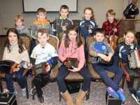 Young players who performed music at the Tralee Parnells GAA Club awards night in The Rose Hotel on Friday. Photo by Dermot Crean