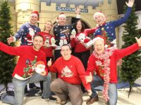 Launching Radio Kerry's Christmas Jumper Day in aid of St Vincent de Paul were, front from left; Andrew Morrissey, Paddy Kevane (St Vincent de Paul) and Pat Kelly. Back from left; Alan Finn, Elaine Kinsella, Junior Locke (St Vincent de Paul), Melanie O'Sullivan and Brendan Fuller. Photo by Dermot Crean