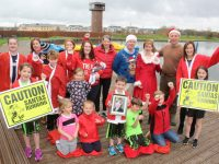 Organisers and friends gather at Tralee Bay Wetlands to launch this year's Santa 5k Fun Run. Photo by Dermot Crean