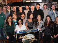 The contestants in the St Brendan's Hurling Club 'Strictly Come Dancing' at the launch in Curby's Bar on Saturday night. Photo by Dermot Crean