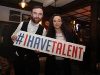David O'Sullivan and Kayleigh Hennessy at the Britain's Got Talent auditions in The Ashe Hotel on Monday afternoon. Photo by Dermot Crean