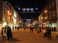 The Christmas lights on The Mall Photo by Dermot Crean