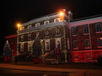 The Christmas lights at the Ashe Memorial Hall. Photo by Dermot Crean