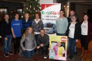 At the launch of the 5k A Day for January Challenge in the Ashe Hotel on Tuesday night were, kneeling; Jenny Boyle, Tommy Commane and Luke Boyle. Back from left; Noel Kelliher, Yvonne Quill, Michelle McGrath, Elma Walsh, Colin 'Poshey' Aherne, Eamonn McAuliffe, Breda Dyland and Trish Kelly. Photo by Dermot Crean