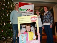 At the launch of the 5k A Day for January Challenge in the Ashe Hotel earlier this month were, kneeling;  Luke Boyle. Back; Colin 'Poshey' Aherne, Elma Walsh and Breda Dyland. Photo by Dermot Crean