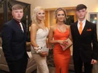 Graham Moriarty Flynn, Isabella Flamini, Andrea O'Callaghan and Daniel Sveda at the CBS The Green students Debs Ball at Ballyroe Heights Hotel on Friday night. Photo by Dermot Crean