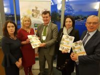 At the launch of the Kerry County Council Community Support Fund for 2018 at the Tralee Bay Wetlands Centre on Thursday evening were, l-r: Niamh O'Sullivan (Head of Community Unit), Helena Switzer (Community Unit), Cathaoirleach Cllr John Sheahan, Chief Executive Moira Murrell, and Michael Scannell (Director of Services).