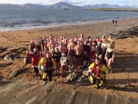Tralee Bay Swimming Club members looking forward to the Christmas swim.