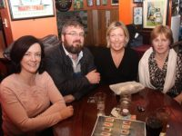 Anne and Eoin Horgan, Fiona Foran and Siobhan Leen at the Tralee Dynamos Table Quiz at The Huddle Bar on Thursday night. Photo by Dermot Crean