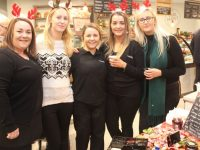 Garvey's Supervalu Tralee staff at the Food Fair on Thursday. Included are Ciara Lynch, Sinead Healy, Emma Donovan, Mary Ellen Donovan and Chelsea Healy. Photo by Dermot Crean