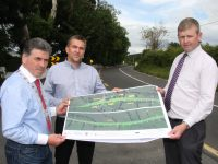 Pictured with Cllr Michael O'Shea at the Kilderry Bends on the N70, Franck Guérineau (centre) and Paul Curry of the Kerry National Road Design Office.