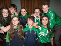 Na Gaeil Leiriú Group of Aoife O'Sullivan, Joshua Roche, Isabel Crowe, Áine O'Sullivan, Liam Óg Kingston, Emily Crowe, Dearbhla Quirke and Barry Sugrue who won the Munster semi Final of Scór na nÓg in Ovens , Co. Cork on Sunday.
