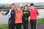 Michelle Greaney (right) of Optimal Fitness with Tommy Horan, Anne Kelliher and Christine Brosnan looking forward to the 5k/10k Road Race on New Year's Eve. Photo by Dermot Crean