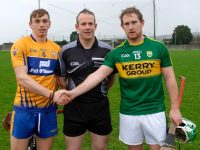 Padraig Boyle captains Kerry. Photo by Mike O'Halloran