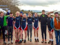 Tralee Rowing Club members after competing at Muckross HOR on Saturday 2nd December: Béla Winde (1st Place J16x1), Daithi O'Regan, Sarah Fitzgerald, Heidi Giles (Club Captain), Emma Fitzgibbon, Katie Nagle, Alayna Gannon, Nicolás Larkin, Luke Bishop and John Patton (Coach). Rowers Jack Walsh and Matthew O'Mahoney absent from the photo.