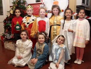 Ms Daly's Senior Infants in Presentation Primary ready for the Christmas Concert on Wednesday evening. Photo by Dermot Crean