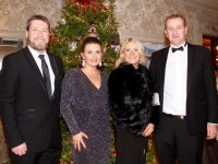 Finbarr and Mairead Canty and Kate and David Leen at The Rose Hotel's New Year's Eve Black-Tie Ball. Photo by Dermot Crean