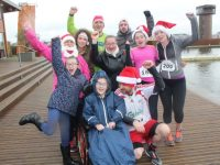 The O'Sullivan clan and friends at the Santa 5k Fun Run from the Tralee Bay Wetlands on Sunday morning. Photo by Dermot Crean