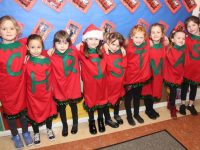 Ms Sugrue's Senior Infants in Scoil Eoin ready for the Christmas Concert on Wednesday evening. Photo by Dermot Crean